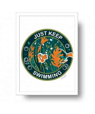 Just keep swimming print by...